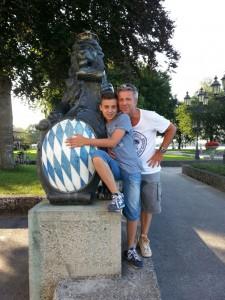 Gernot Merz mit Sohn Leon